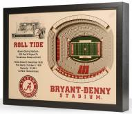 Alabama Crimson Tide 25-Layer StadiumViews 3D Wall Art