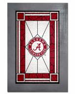 Alabama Crimson Tide Stained Glass with Frame