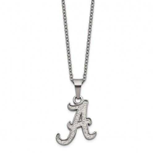 Alabama Crimson Tide Stainless Steel Pendant Necklace