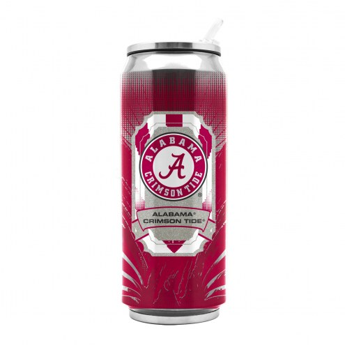 Alabama Crimson Tide Stainless Steel Thermo Can