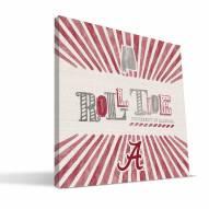 Alabama Crimson Tide State Canvas Print