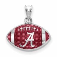 Alabama Crimson Tide Sterling Silver Enameled Football Pendant