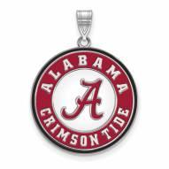 Alabama Crimson Tide Sterling Silver Extra Large Enameled Disc Pendant