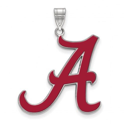Alabama Crimson Tide Sterling Silver Extra Large Enameled Pendant