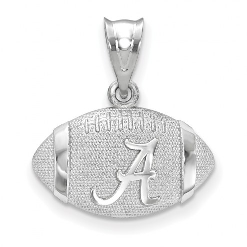 Alabama Crimson Tide Sterling Silver Football with Logo Pendant