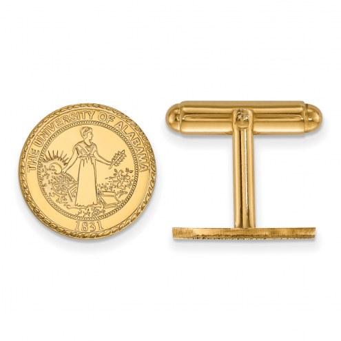 Alabama Crimson Tide Sterling Silver Gold Plated Cuff Links