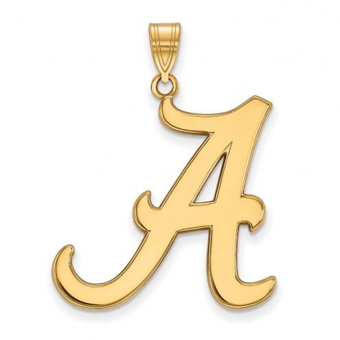 Alabama Crimson Tide Sterling Silver Gold Plated Extra Large Pendant