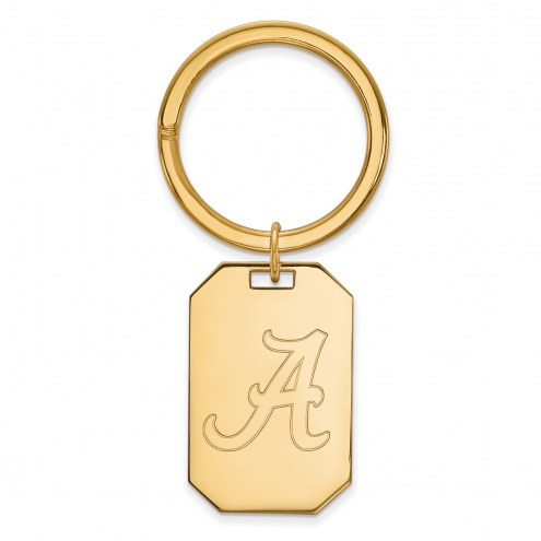 Alabama Crimson Tide Sterling Silver Gold Plated Key Chain