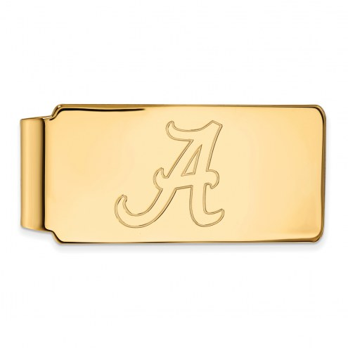 Alabama Crimson Tide Sterling Silver Gold Plated Money Clip