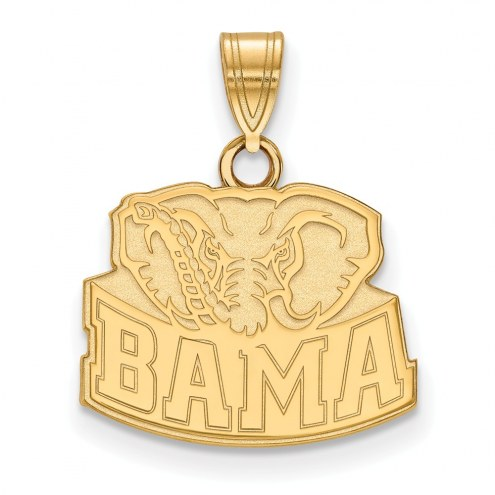 Alabama Crimson Tide Sterling Silver Gold Plated Small Pendant