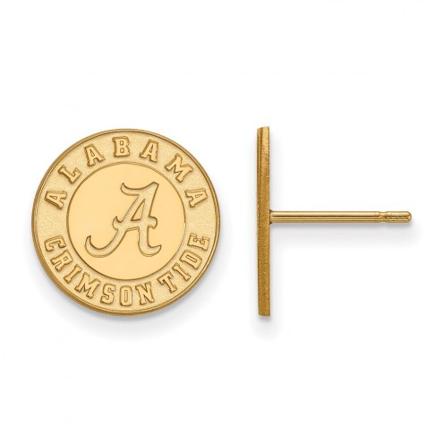 Alabama Crimson Tide Sterling Silver Gold Plated Small Post Earrings
