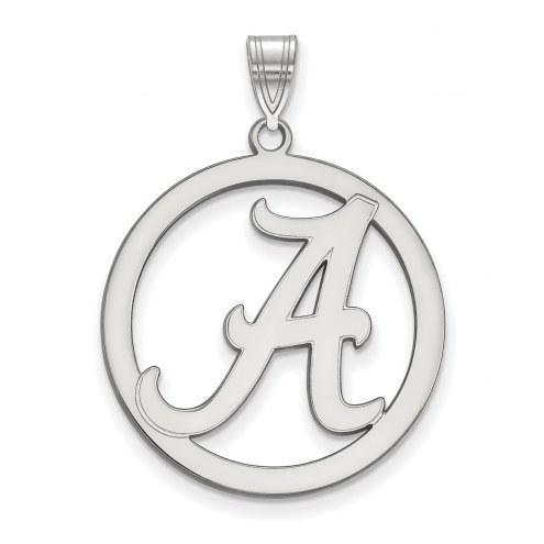 Alabama Crimson Tide Sterling Silver Large Circle Pendant