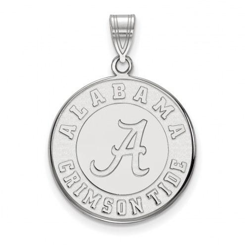 Alabama Crimson Tide Sterling Silver Large Disc Pendant