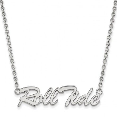 Alabama Crimson Tide Sterling Silver Large Pendant Necklace