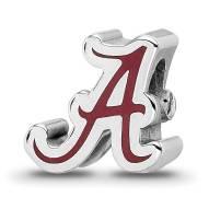 Alabama Crimson Tide Sterling Silver Logo Bead