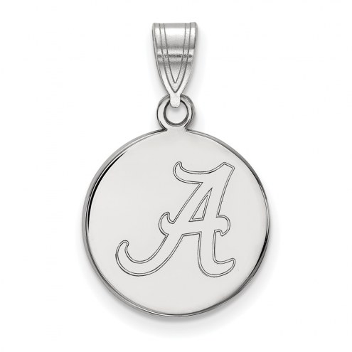 Alabama Crimson Tide Sterling Silver Medium Disc Pendant