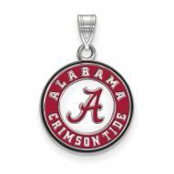 Alabama Crimson Tide Sterling Silver Medium Enameled Disc Pendant