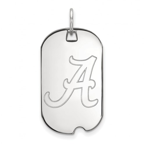 Alabama Crimson Tide Sterling Silver Small Dog Tag