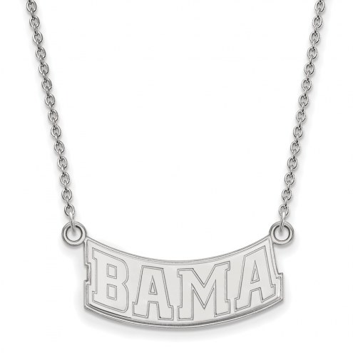 Alabama Crimson Tide Sterling Silver Small Pendant Necklace