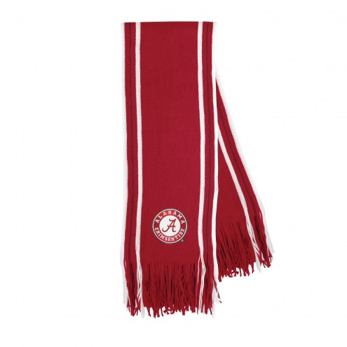 Alabama Crimson Tide Stripe Fringe Scarf