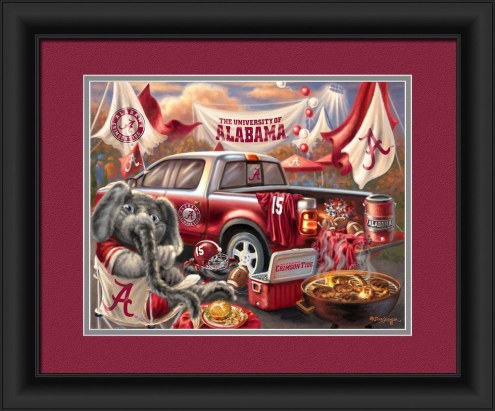 Alabama Crimson Tide Tailgate Framed Print