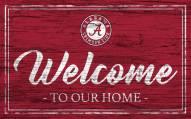Alabama Crimson Tide Team Color Welcome Sign