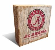 Alabama Crimson Tide Team Logo Block
