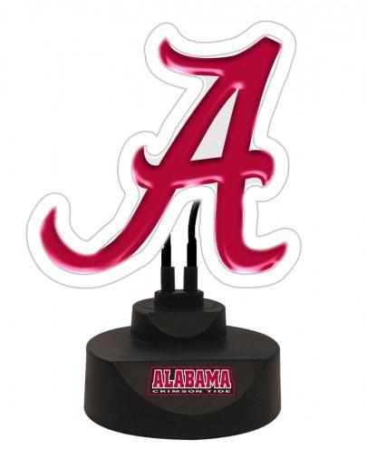 Alabama Crimson Tide Team Logo Neon Light