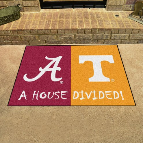 Alabama Crimson Tide/Tennessee Volunteers House Divided Mat