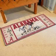 Alabama Crimson Tide Ticket Runner Rug