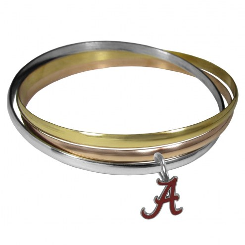 Alabama Crimson Tide Tri-color Bangle Bracelet