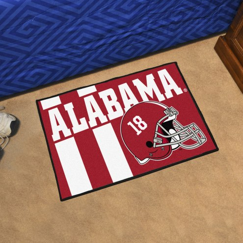 Alabama Crimson Tide Uniform Inspired Starter Rug
