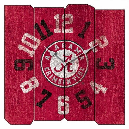 Alabama Crimson Tide Vintage Square Clock