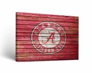 Alabama Crimson Tide Weathered Canvas Wall Art