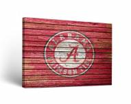 Alabama Crimson Tide Weathered Canvas Wall Art