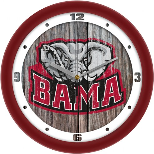 Alabama Crimson Tide Weathered Wall Clock