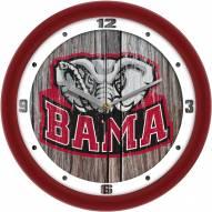Alabama Crimson Tide Weathered Wall Clock