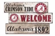 Alabama Crimson Tide Welcome 3 Plank Sign