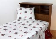 Alabama Crimson Tide White Bed Sheets