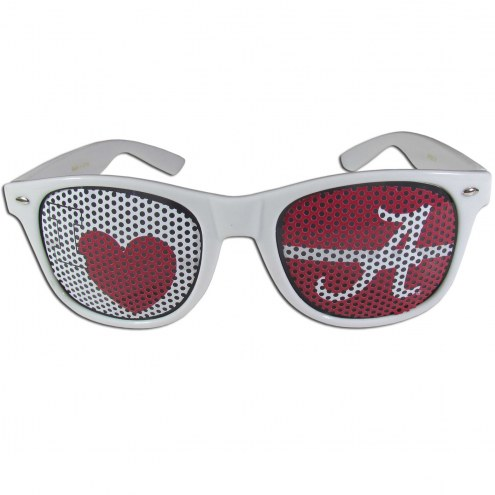 Alabama Crimson Tide White I Heart Game Day Shades