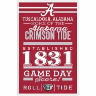 Alabama Crimson Tide Established Wood Sign