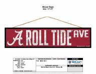Alabama Crimson Tide Wood Avenue Sign