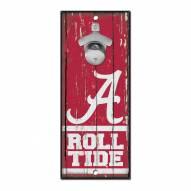 Alabama Crimson Tide Wood Bottle Opener