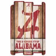 Alabama Crimson Tide Wood Fence Sign