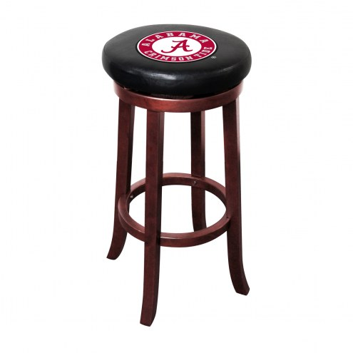 Alabama Crimson Tide Wooden Bar Stool