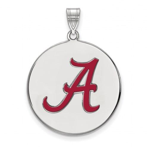 Alabama Crimson Tide NCAA Sterling Silver Extra Large Enameled Disc Pendant