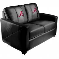 Alabama Crimson Tide XZipit Silver Loveseat with A Logo