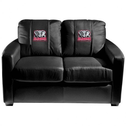 Alabama Crimson Tide XZipit Silver Loveseat with Elephant Logo