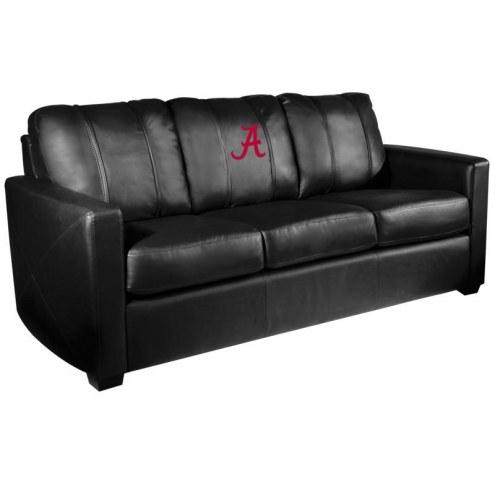 Alabama Crimson Tide XZipit Silver Sofa with A Logo