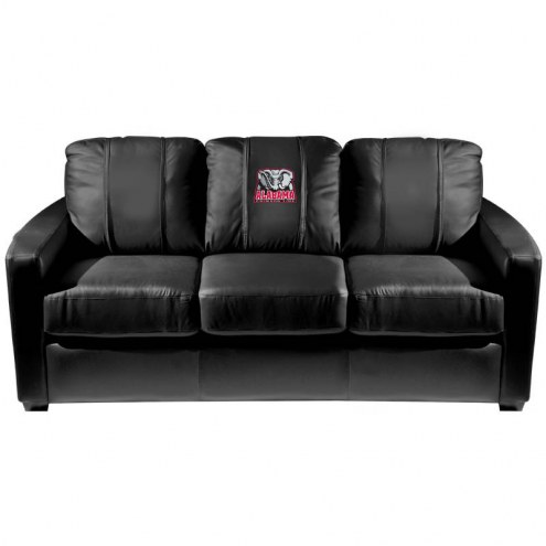 Alabama Crimson Tide XZipit Silver Sofa with Elephant Logo